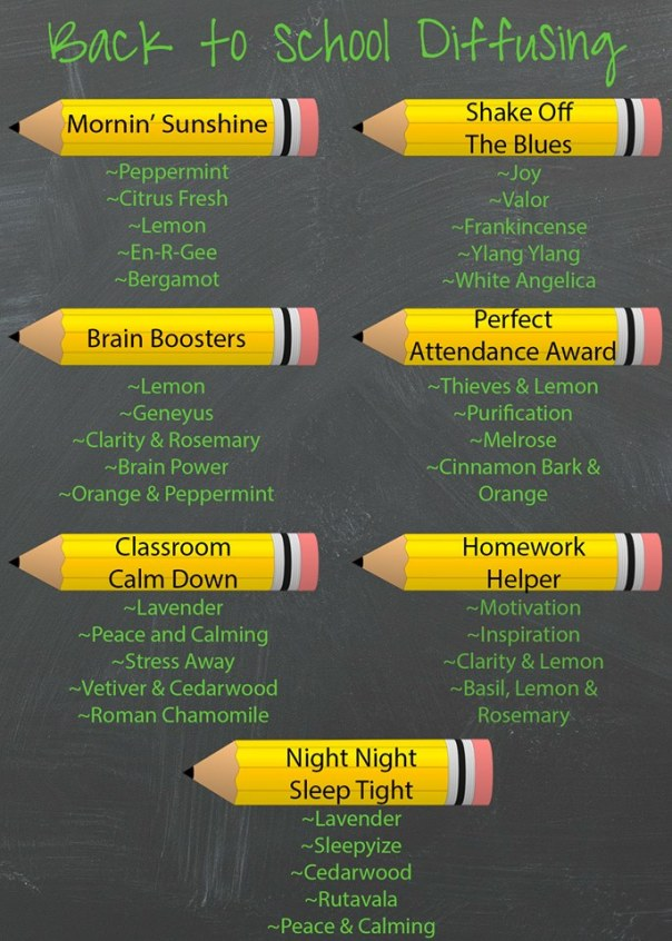 back to school diffusing