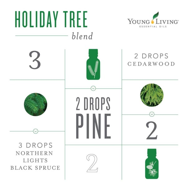 Holiday tree diffuser blend